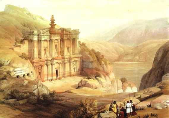 טיולים לפטרה - הא-דיר, ציור דיויד רוברטס